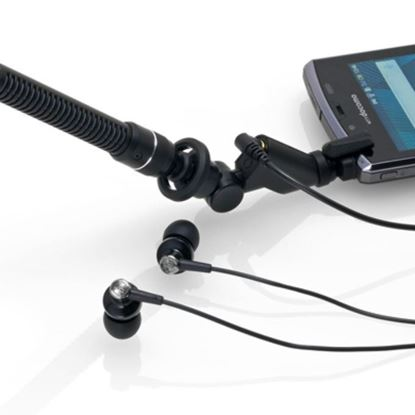 Audio Technica AT9913iS Shotgun Electret Condenser Microphone for SmartPhone w Phone Mount