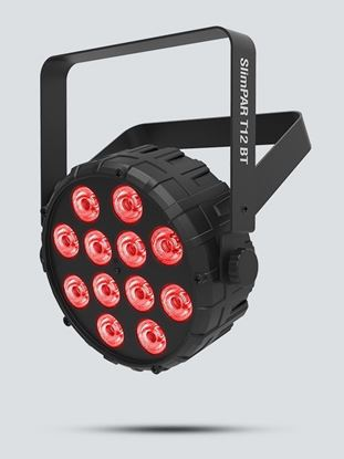 Chauvet SlimPAR T12 BT Compact Washlight w 12 x 2.5W Tri-color RGB LEDs with Bluetooth App Control Left