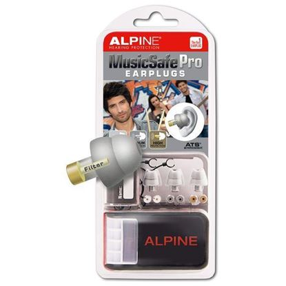 Alpine Hearing Protection MusicSafe Pro Earplugs (Silver)