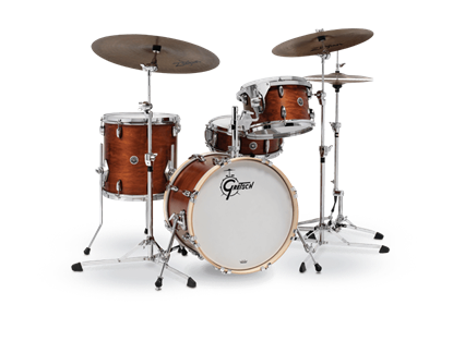 Gretsch BR4 J484 Brooklyn Series 4 Piece 18 Inch Maple Poplar Shell Pack Drum Kit (Select Satin Lacquer Finish)