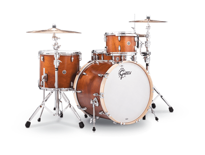 Gretsch BR4 RC424 Brooklyn Series 4 Piece 22 Inch Maple Poplar Shell Pack Drum Kit (Select Satin Lacquer Finish)