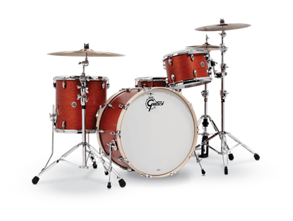 Gretsch BR4 RC444 Brooklyn Series 4 Piece 24 Inch Maple Poplar Shell Pack Drum Kit (Select Satin Lacquer Finish)