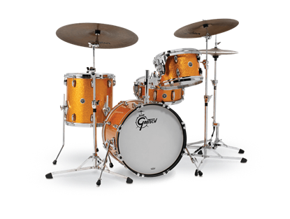 Gretsch BR4 J484 Brooklyn Series 4 Piece 18 Inch Maple Poplar Shell Pack Drum Kit (Select Nitron Wrap Finish)