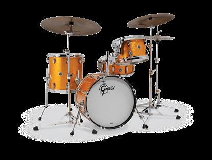 Gretsch BR4 J484 Brooklyn Series 4 Piece 18 Inch Maple Poplar Shell Pack Drum Kit (Select Nitron Wrap Finish)