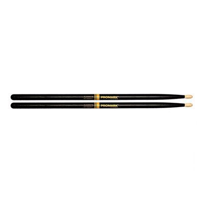 Promark Classic 7A ActiveGrip Drumsticks - Oval Tip Black