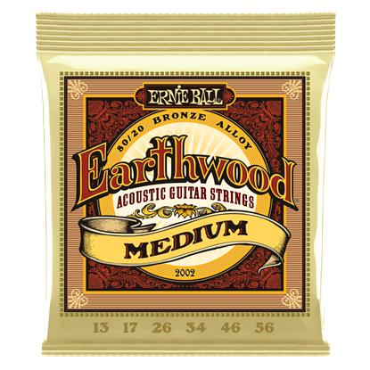 Ernie Ball 2002 Earthwood Medium 80 20 Bronze Acoustic Guitar Strings
