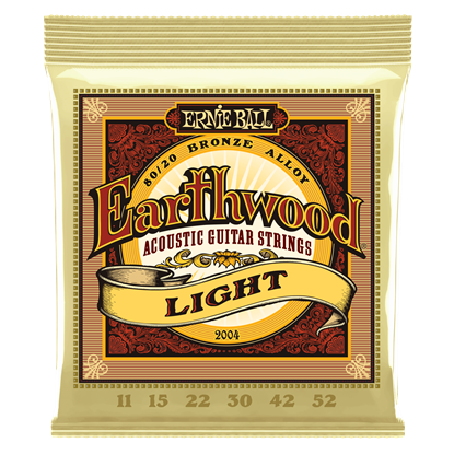 Ernie Ball 2004 Earthwood Light 80 20 Bronze Acoustic Guitar Strings