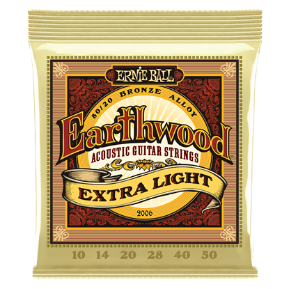 Ernie Ball 2006 Earthwood Extra Light 80 20 Bronze Acoustic Guitar Strings