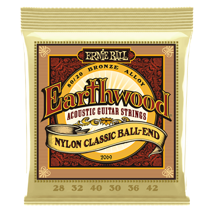 Ernie Ball 2069 Earthwood Folk Nylon Classical Guitar Strings