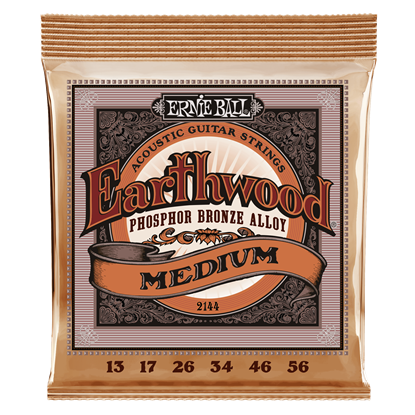 Ernie Ball 2144 Earthwood Medium Phosphor Bronze Acoustic Guitar Strings