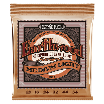Ernie Ball 2146 Earthwood Medium Light Phosphor Bronze Acoustic Guitar Strings