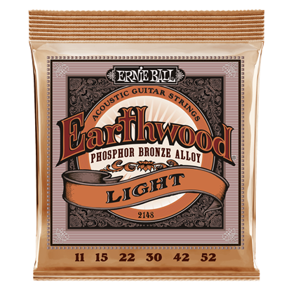 Ernie Ball 2148 Earthwood Light Phosphor Bronze Acoustic Guitar Strings