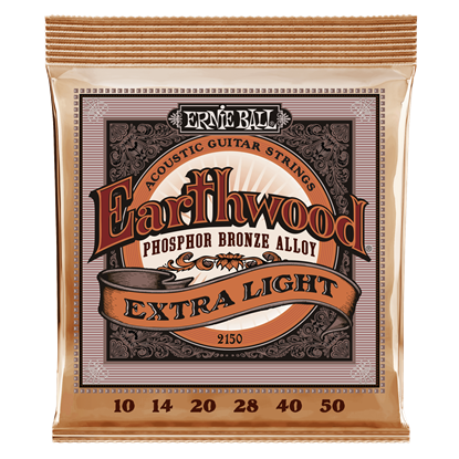 Ernie Ball 2150 Earthwood Extra Light Phosphor Bronze Acoustic Guitar Strings