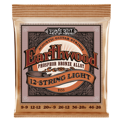 Ernie Ball 2153 Earthwood 12-String Light Phosphor Bronze Acoustic Guitar Strings