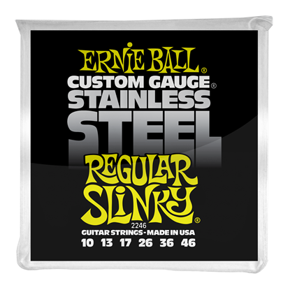 Ernie Ball 2246 Regular Slinky Stainless Steel Wound Electric Guitar Strings