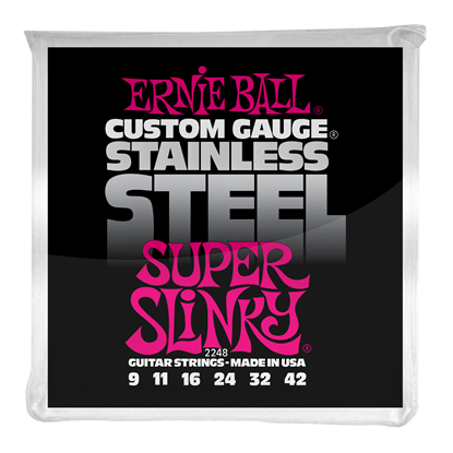 Ernie Ball 2248 Super Slinky Stainless Steel Wound Electric Guitar Strings
