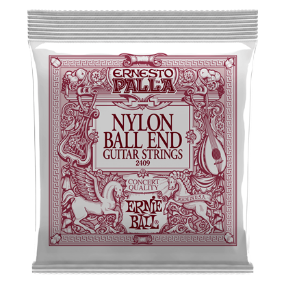 Ernie Ball 2409 Ernesto Palla Black Nylon Gold Ball End Classical Guitar Strings