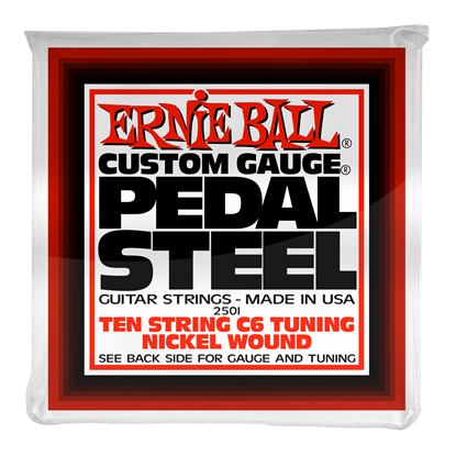 Ernie Ball 2501 Pedal Steel 10-String C6 Tuning Nickel Wound Electric Guitar Strings