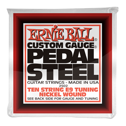 Ernie Ball 2502 Pedal Steel 10-String E9 Tuning Nickel Wound Electric Guitar Strings