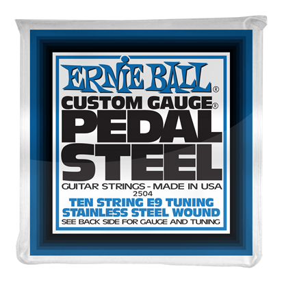 Ernie Ball 2504 Pedal Steel 10-String E9 Tuning Stainless Steel Wound Electric Guitar Strings