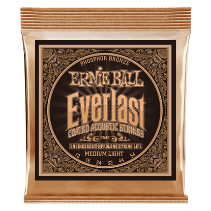 Ernie Ball 2546 Everlast Medium Light Coated Phosphor Bronze Acoustic Guitar Strings