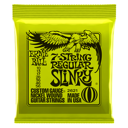 Ernie Ball 2621 Regular Slinky 7-String Nickel Wound Electric Guitar Strings