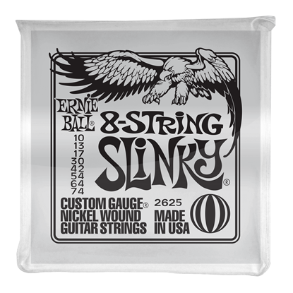 Ernie Ball 2625 Slinky 8-String Nickel Wound Electric Guitar Strings