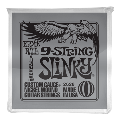Ernie Ball 2628 Slinky 9-String Nickel Wound Electric Guitar Strings