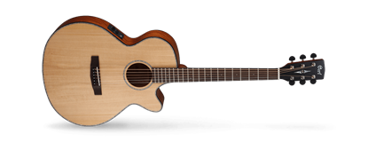 Cort SFX-E Solid Top Acoustic Guitar with Cutaway and Pickup - Natural Satin Finish (SFXE)