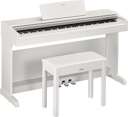 Yamaha Arius YDP-143 Digital Piano with Piano Bench White (YDP143WH)
