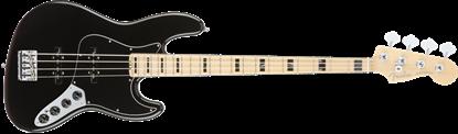 Fender American Elite Jazz Bass Guitar MN -Black Main