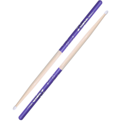 Zildjian 5A Nylon Tip Purple Dip Drumsticks