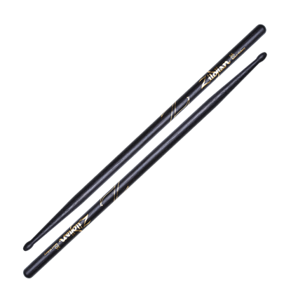 Zildjian 5A Wood Tip Black Drumsticks