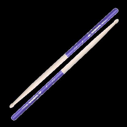 Zildjian 5A Wood Tip Purple Dip Drumsticks