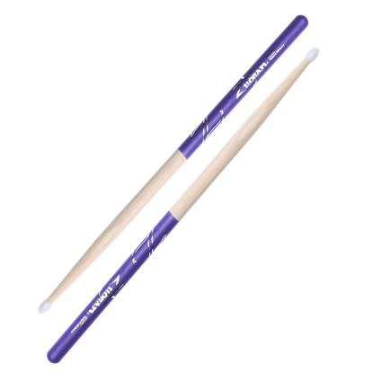 Zildjian 5B Nylon Tip Purple Dip Drumsticks