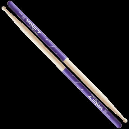 Zildjian 7A Wood Tip Purple Dip Drumsticks