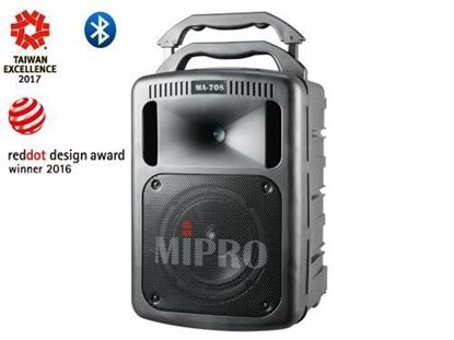 Mipro MA-708 Portable Single Channel Wireless PA System (190 Watt) Front View