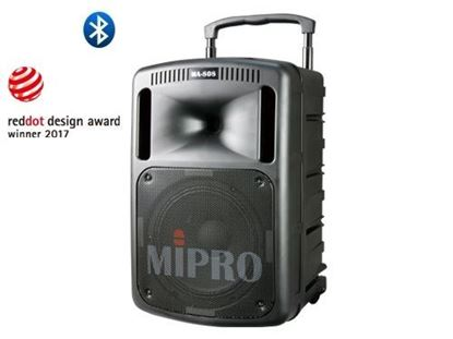 Mipro MA-808 Portable Single Channel Wireless PA System (267 Watt) Front View
