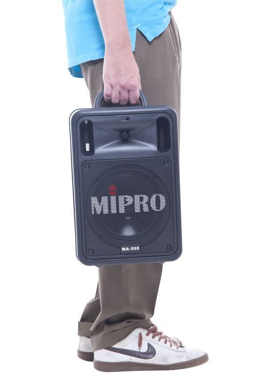 Mipro MA-505 Portable Single Channel Wireless PA System (145 Watt) Being Carried