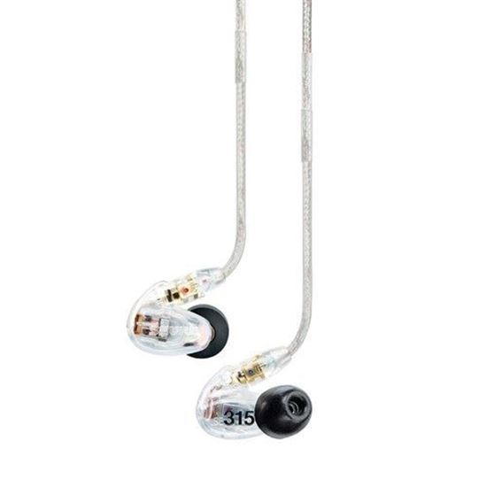 Shure SE315 Sound Isolating In-Ear Monitors (Clear)