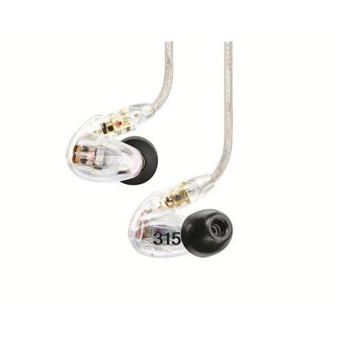 Shure SE315 Sound Isolating In-Ear Monitors (Clear) with Accessories