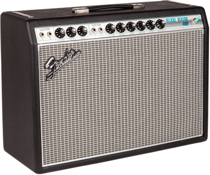 Fender '68 Custom Deluxe Reverb Combo Guitar Amplifier - Angle Right