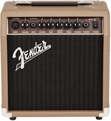 Fender Acoustasonic 15 Acoustic Guitar Combo Amplifier - Front