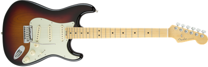 Fender American Elite Stratocaster Electric Guitar - Maple Neck - 3 Colour Sunburst
