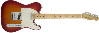 Fender American Elite Telecaster Electric Guitar - Maple Neck - Aged Cherry Burst