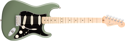 Fender American Professional Stratocaster Electric Guitar - Maple Neck - Antique Olive
