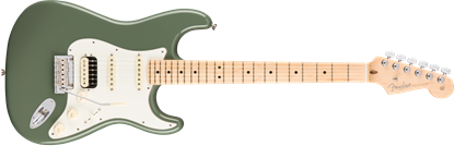 Fender American Professional Stratocaster HSS Shawbucker Electric Guitar - Maple Neck - Antique Olive
