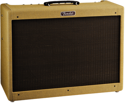 Fender Blues Deluxe Reissue Combo Guitar Amplifier - Tweed - Angle