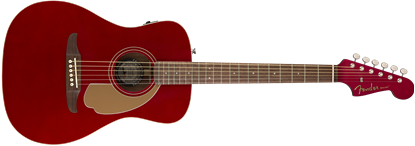 Fender California Malibu Player Acoustic Guitar - Candy Apple Red