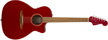 Fender California Newporter Classic Acoustic Guitar - Hot Rod Red Metallic